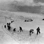 Snøblokkaden 1943, snørydding i Sandåsvingen