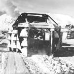 Snøskrape i bruk på Finse (1945-50)