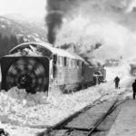 Roterande snøplog på Flå stasjon (1940-1970)
