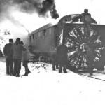 Roterande snøplog på Finse (1908)
