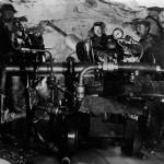 Maskinboremaskin av Brandts fabrikat i Gravhalstunnelens vestre del (1897-1902)