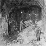 Håndboring i Gravhalstunnelens østre del (1898-1902)
