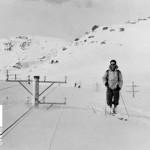 Snøblokaden i 1943, inspeksjon av banen øst for Hallingskeid (07.03.1943)
