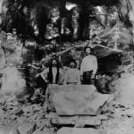 Anleggsarbeidarar i tunnel 38 ved Hallingskeid (1905-1908)