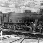 Damplokomotiv type 39 a nr. 166 på svingskiva på Voss (1926-1940)