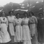 Restaurantpersonalet på Myrdal stasjon (1910)