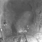 Opplasting og utkjøring av stein fra Haverstingtunnelen ( 20. mars 1905)