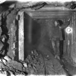 Anleggsarbeid i retningsstollen i Gravhalstunnelen (6. juli 1902)