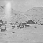 Hest og slede med forsyningar kjem fram til Finse (november 1905)