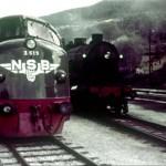Diesellokomotiv Di3. 619 på Voss stasjon (1958-1960)